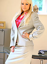Sexy Secretary, Cute secretary wearing skirt suit