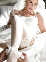 Mick Blue, Anikka Albrite Nude Babe uncovers her uncovered titties, draws down her knickers and opens her legs and self pleasures her tight-fitting crack