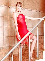 Lingerie Pics: Gorgeous Teen in Red