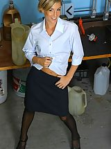 Office Sex, Melanie looking amazing in a stunning secretary outfit.