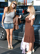 Long Legs, Kelly and Kate wash there cars before a intimate 3-some with Ryan.