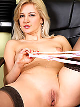 Secretary Pics: Alluring Anilos Laurita is a naughty office woman who loves to have a good time while her boss is away