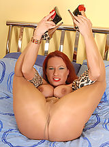 Six Inch Heels, Party Faye girl in panthose shows out for you!