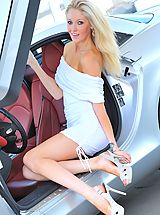 6 inch Heels, Emily strips from her white dress