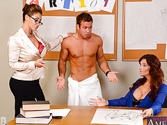 Eva Notty and Syren De Mer,My First Sex Teacher,Syren De Mer, Eva Notty, Chad White, Teacher, Classroom, Desk, 69, American, Ball licking, BGG, Big Ass, Big Dick, Big Artificial Jugs, Big Jugs, Blonde, Brown Eyes, Brunette, Caucasian, Cum on Breasts, Plas
