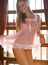 bridal lingerie, Marketa showing flesh