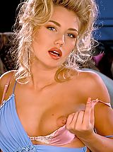Lingerie Pics: One of the most sensuous bi~sexual models from the 90's, Sara has everything from pouty lips to perky tits!