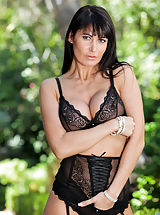 Sexy babe with huge boobs flaunts her new lingerie for Anilos members
