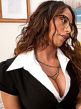 Hot Legs, Hot latina teacher decides to fuck one of her students on her desk.