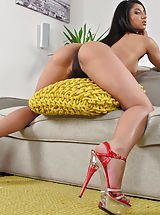 Red High Heels, Wet Pussy Shots really close, set no 900 Ria Rodriguez