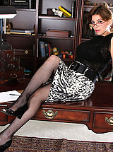 Classy Legs, Valarie, Anilos Latina Valarie slips off her office attire and spreads her pussy atop her desk