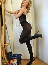 Black Heels, Secretaries in High Heels Miss Sam in October 2011