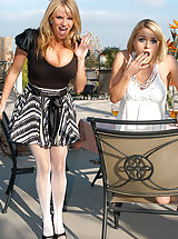 Sexy Secretary, Kelly Madison and Krissy Lynn get fucked hard and fast by a Easter Bunny.