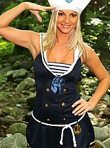 Open Legs, Sailor Tammy strips out of her uniform to show off her perfect body.