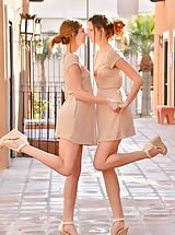 Upskirts, Twins Six Foot Models