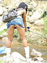 Yellow Skirts, Asian Women sharon 04 fishing puffy nipples