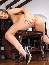 Stocking High Heels, Wet Pussy Closeup of Dani Daniels