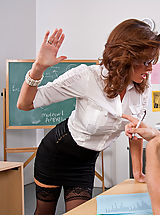Office Sex, Sexy teacher Veronica Avluv squirts all over a big cock.
