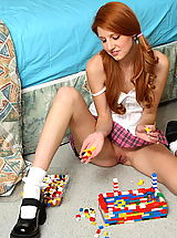 Short Skirts, rita lovely 01 redhead pigtails