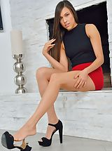 Red High Heels, Extreme Fashion Model