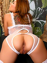 Pink Heels, Asian Women cherry chen 08 negligee crotchless panties