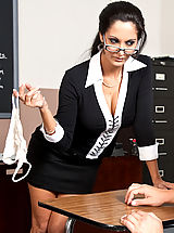 Legs, Ava Addams shows one of her students what it takes to get an A in her class.