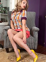 JJessica gorgeously provocative in pantygirdle and stockings