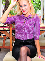 Hot Legs, Horny cougar secretary loves to slowly peel off her office attire while you watch