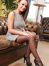 Classy Legs, Siobhan the sexy secretary looks great in black stockings
