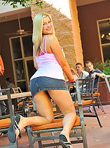 upskirt, Danielle gets naughty in public