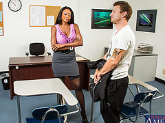 Diamond Jackson,My First Sex Teacher,Mr. Pete, Diamond Jackson, Professor, Teacher, Classroom, Desk, Ass licking, Ass smacking, Big Dick, Big Plastic Breasts, Big Breasts, Black, Black Hair, Blow Job, Brown Eyes, Brunette, Facial, Fake Boobs, Interracial,