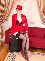 Classy Legs,Sophisticated red haired lady reveals her inner freak at Anilos