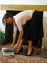 Wearing High Heels, Teacher Miss Nadja