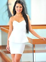 Secretaries, Angelic Sweetheart Arianna is gorgeous in white