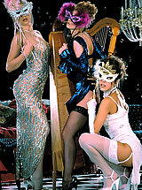 Black High Heels, It's a masquerade ball with young lovelies Felecia Danay, Julia Hayes, and Sara St. James.