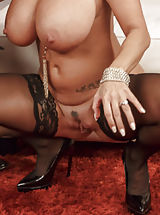 seamed stockings, Ava Addams