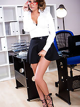 Office Sex, Cara Saint-Germain, Luke Hardy in For the Players