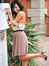 Mandee gets naked in a public place