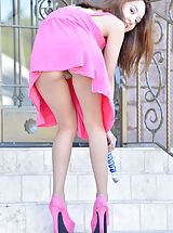 White High Heels, Mila Pink Penetration