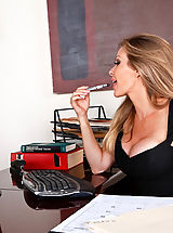 Naughty Office, Dyanna Lauren,My First Sex Teacher,Alan Stafford, Dyanna Lauren, Stranger, Teacher, Desk, Office, Great, Blonde, Blow Job, Deepthroating, Facial, Fake Breasts, High Heel Pumps, Mature, Stockings, Swallowing, Tattoos,