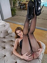 High Heel Mules, Hot Clit Pics, Photo Set No. #1486 Au Naturel Horny Skank Ashley Lane exposes her own massive bust and uncovers those solid slit