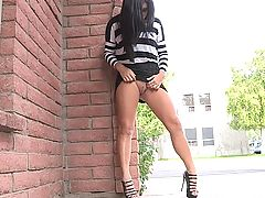 Marletta upskirts outside