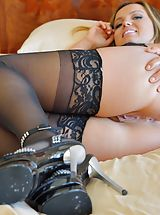 Classic Pumps, Naked Babe Addison Her Sensual Style
