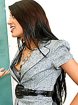 Hot teacher with an amazing body rocks her students world