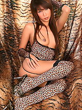 Yelolow Heels, ying ching ching 08 leopard stockings
