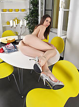Open Legs, Wet Pussy Shots really close, set no 893 Candy Sweet