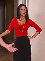 Naughty Secretary, Sexy Jessica Jaymes office assistant is married, but that doesn't stop her from fucking and sucking his big dick.