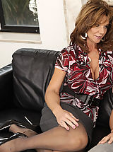 Naughty Secretary, Busty hot milf Deauxma is horny after her divorce so for mothers day she gets to swallow her son's friends cock and he pumps her pussy with his big cock.