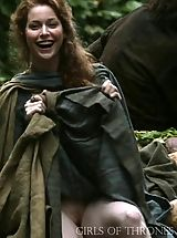 upskirt, Game of Thrones Girls Upskirt Pussy Insights