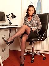 Black High Heels, Marlyn- Frustrated Pantyhose Secretatry